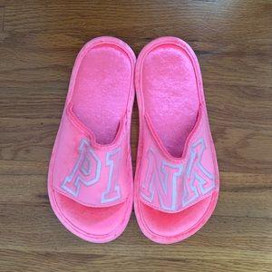 Victoria's Secret Pink Velvet Slippers